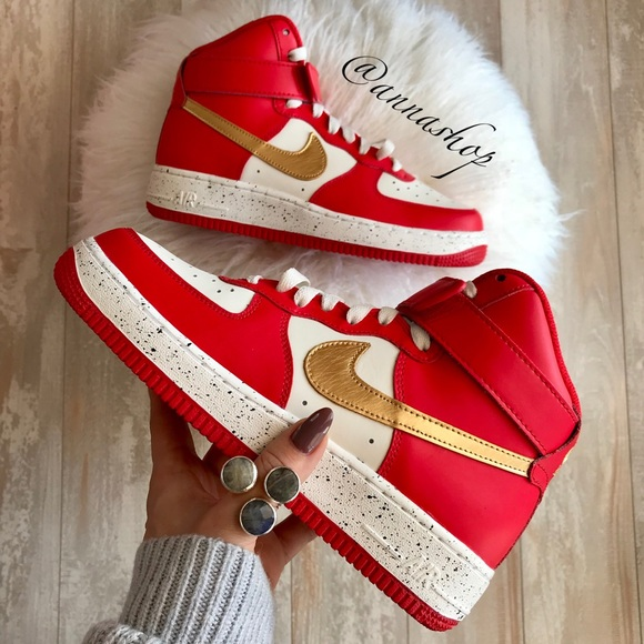 chocar bebida veterano  Nike Shoes   Nwt Nike Id Air Force Mid Custom   Poshmark